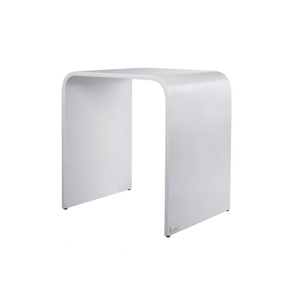 HÜPPE stolička do sprchového kúta typ L 30x38x40cm biela matná 493000