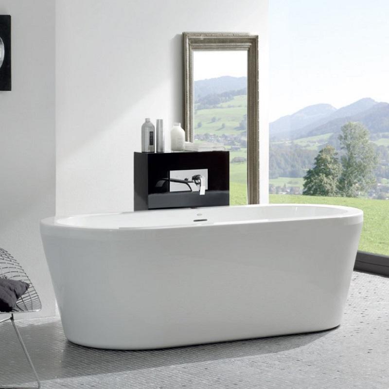 JACUZZI JADIS voľne stojaca vaňa 180 x 80 x 60 cm so sifónom Click-Clack biela lesklá
