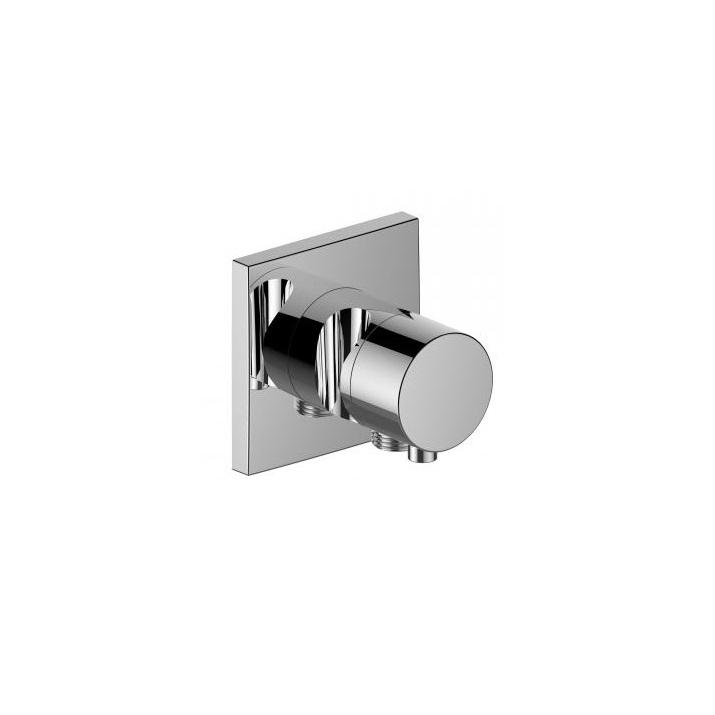 KEUCO Ixmo 2-cest prepínací a uzatvárací ventil  X Comfort s prípojom hadice a držiak sprchy chróm štvorcová rozeta (k telesu 59556000170) 59557011202
