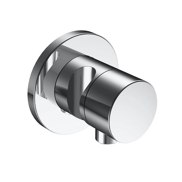 KEUCO Ixmo 2-cestný prepínací ventil s prípojom hadice a držiakom sprchy (k telesu 59556000170) kruhová rozeta chróm 59556010201