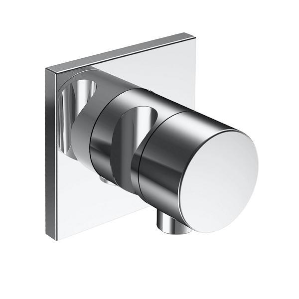 KEUCO Ixmoventil 2-cest prepín a uzatv IXMO X Pure s prípojom hadice a držiak sprchy chróm štvorcová rozeta  59557010202