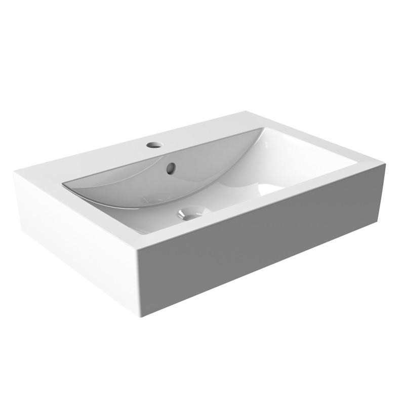 KFA SOLO ORNE 50 umývadlo na dosku keramické biele 1610-584-050