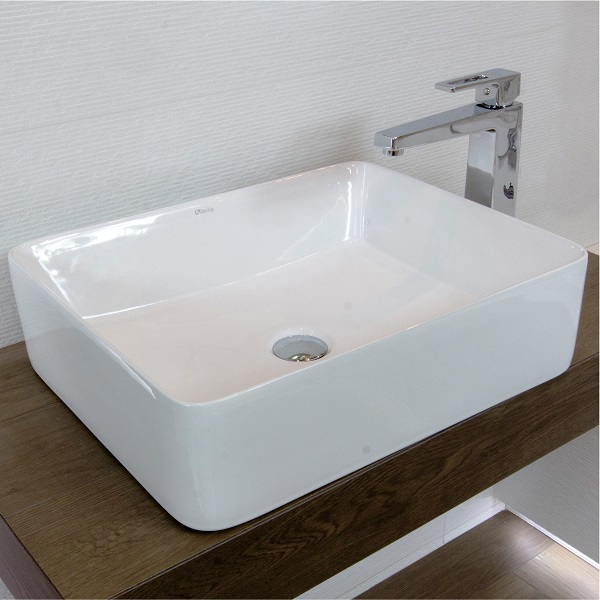 LAVITA ALEGRANZA - keramické  umývadlo na dosku miska  48 x 37,5 cm bez prepadu biela