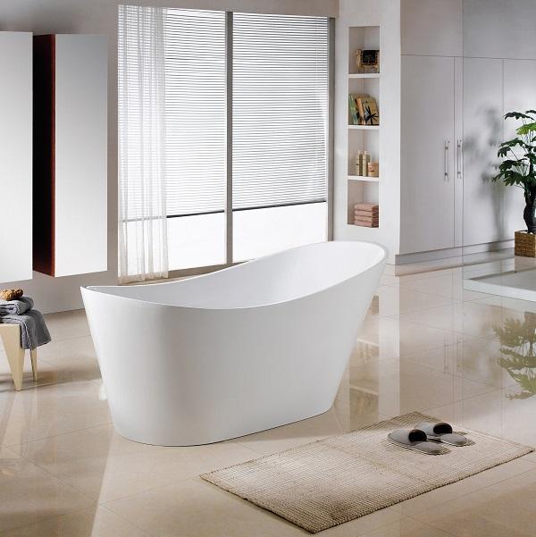 LAVITA BELLAGIO voľne stojaca vaňa 170 x 80 x 72 cm so sifónom Click-Clack biela lesklá