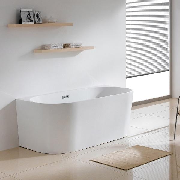 LAVITA CALDERA S voľne stojaca vaňa 150 x 80 x 58 cm so sifónom Click-Clack biela lesklá