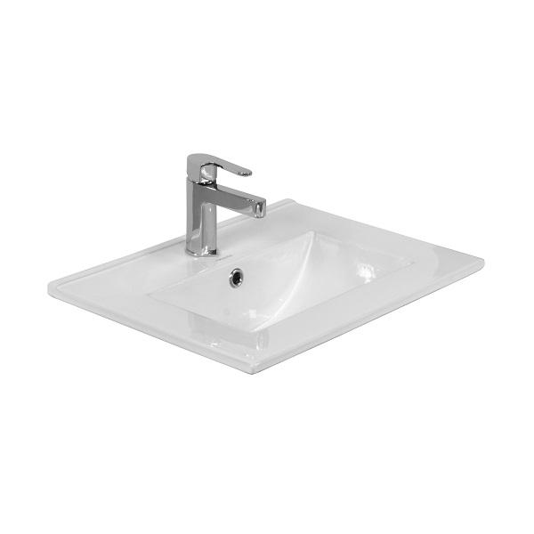 LAVITA FLORYDA - keramické nábytkové umývadlo  51,5 x 40,5 cm biele