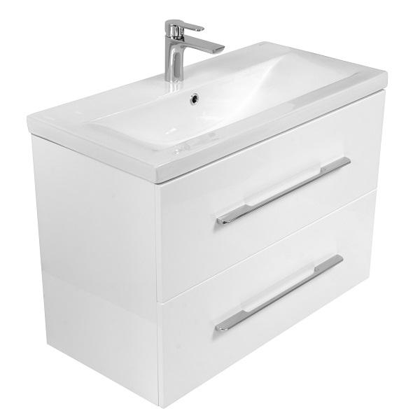 LAVITA KALIFORNIA - umývadlová skrinka 80 s 2-mi zásuvkami so SoftClose biela lesklá lak