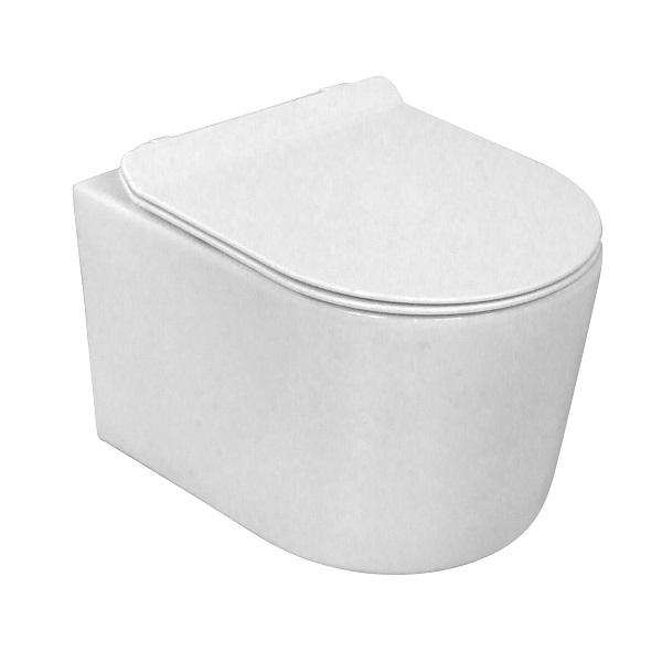 LAVITA LOSO set 2v1- závesná WC misa Rim+  +  WC sedátko LOSO so SoftClose