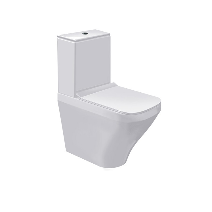 misa WC kombi stojaca DURA STYLE 37 x 63 cm s hlbok splach biela