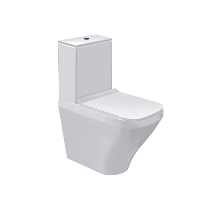 misa WC kombi stojaca DURA STYLE 37 x 63 cm s hlbok splach biela s WG