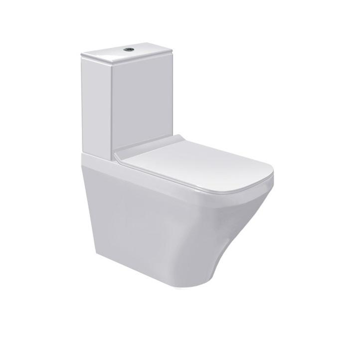 misa WC kombi stojaca DURA STYLE 37 x 70 cm s hlbok splach biela
