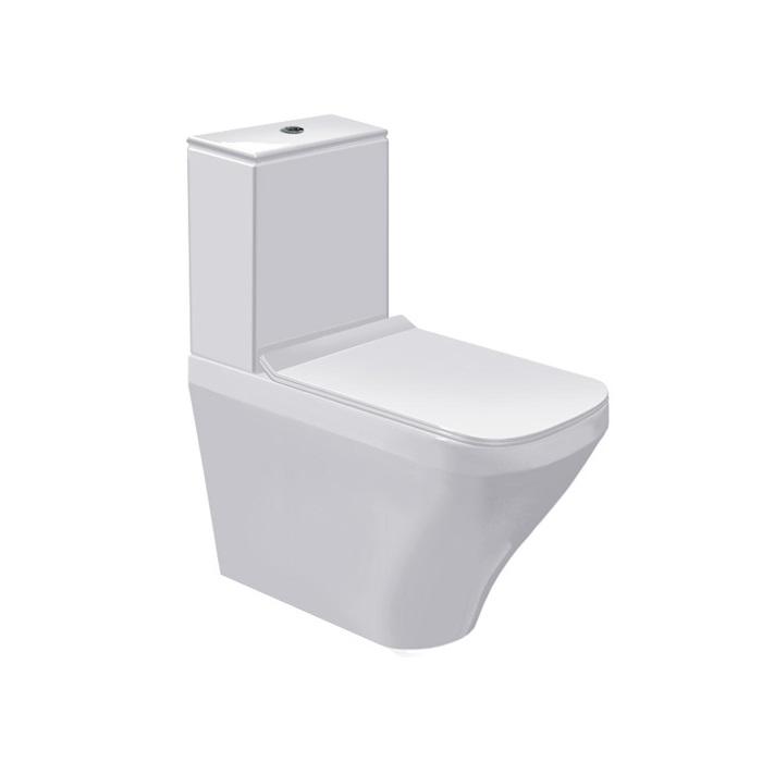 misa WC kombi stojaca DURA STYLE 37 x 70 cm s hlbok splach biela WG