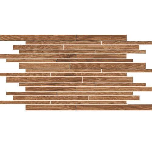 mozaika LODGE 30 x 50 hnedá matná R9 vzhľad dreva