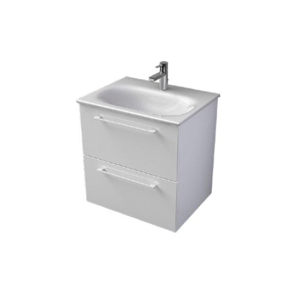 MYBATH MyEssence 60 umývadlová skrinka  lesklá biela