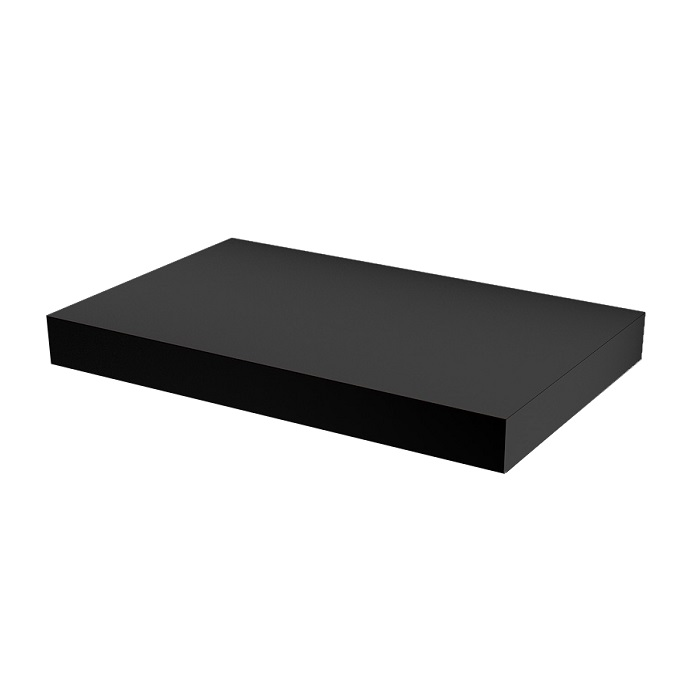 MYBATH MyVento doska pod umývadlo 80 x 8 x 50 matná čierna MP80BM33