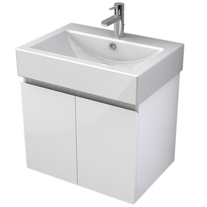 MYBATH MyVento skrinka k umývadlu WhiteStone 60 cm 2-dverová MOR60D2B01
