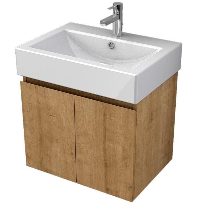 MYBATH MyVento skrinka k umývadlu WhiteStone 60 cm 2-dverová MOR60D2H3303