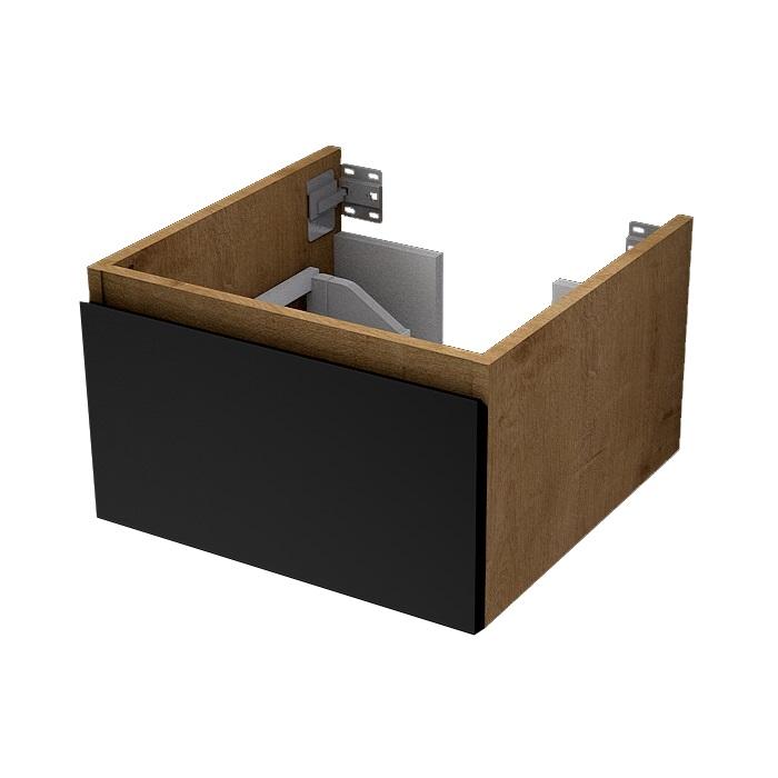 MYBATH MyVento skrinka pod dosku 50 cm matná čierna/dub Arlington MPS50Z1BM33H3303