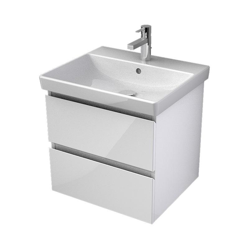 MYBATH MyVento umývadlová skrinka 55 cm k umývadlu Avento biela vysoký lesk MVE55Z2B01