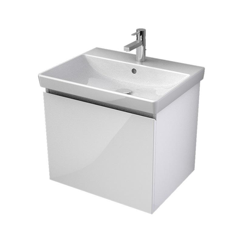 MYBATH MyVento umývadlová skrinka 60 1-zásuvková k umývadlu Avento 60, biela vysoký lesk, MVE60Z1B01