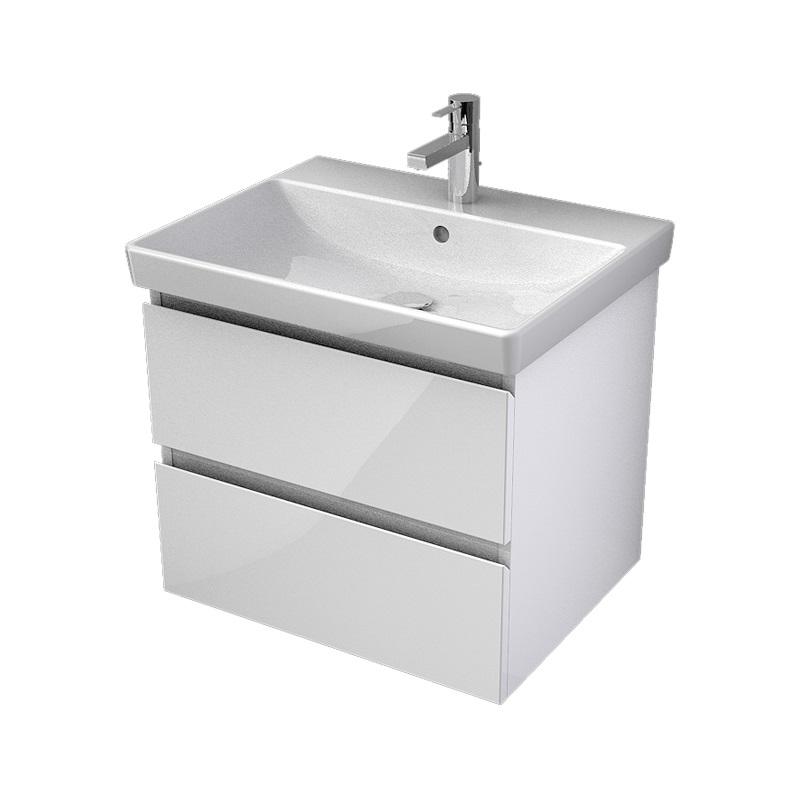 MYBATH MyVento umývadlová skrinka 60 2-zásuvková k umývadlu Avento 60, biela vysoký lesk MVE60Z2B01