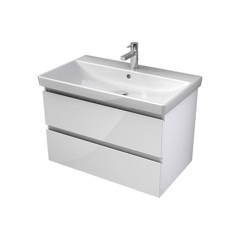 MYBATH MyVento umývadlová skrinka 80 cm k umývadlu Avento biela vysoký lesk MVE80Z2B01