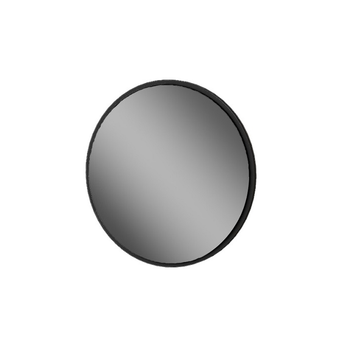 MYBATH MyVento zrkadlo kruhové 60 cm čierna matná MZ60KBM33