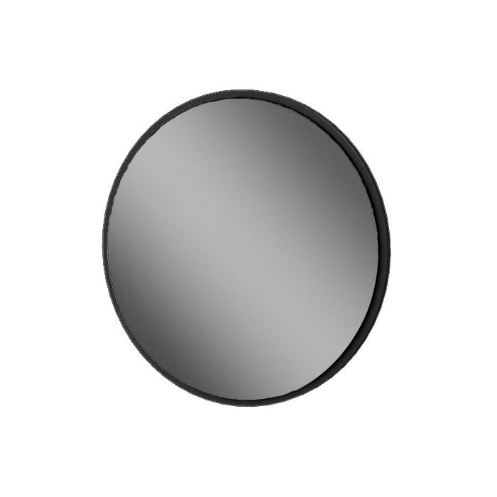 MYBATH MyVento zrkadlo kruhové 80 cm čierna matná MZ80KBM33