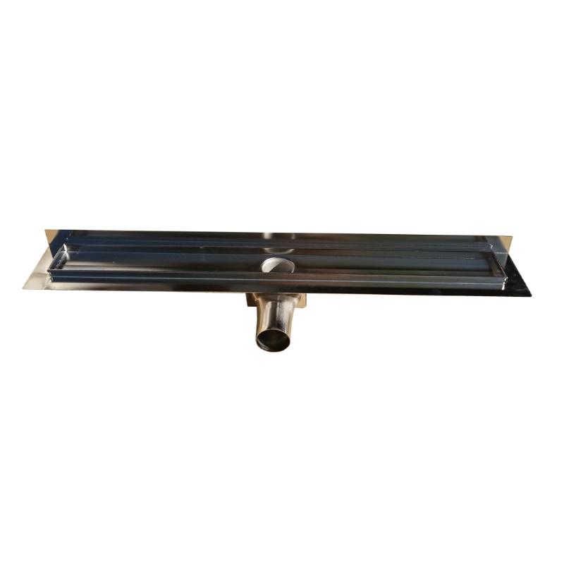 MyBath sprchový žľab 105 LV s vertikálnou prírubou celonerezový 64 x 985 mm, 445843