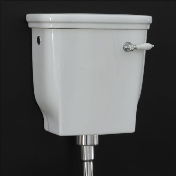 nádržka WC HERMITAGE 42 x 41 biela s poklopom, len keramika bez mechanizmu