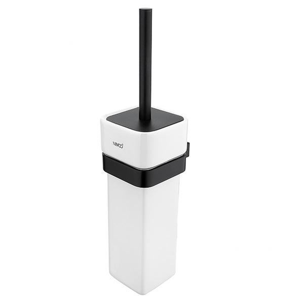NIMCO kefa WC KIBO + nádobka keramická s krytkou čierna matná KI14094K90
