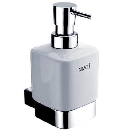 NIMCO KIBO dávkovač mydla nádobka keramická 250 ml biela mosadz/chróm l KI14031K26