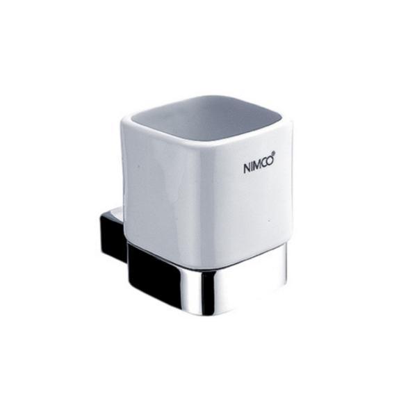 NIMCO KIBO pohár s držiakom keramický biela/chróm KI14058K26