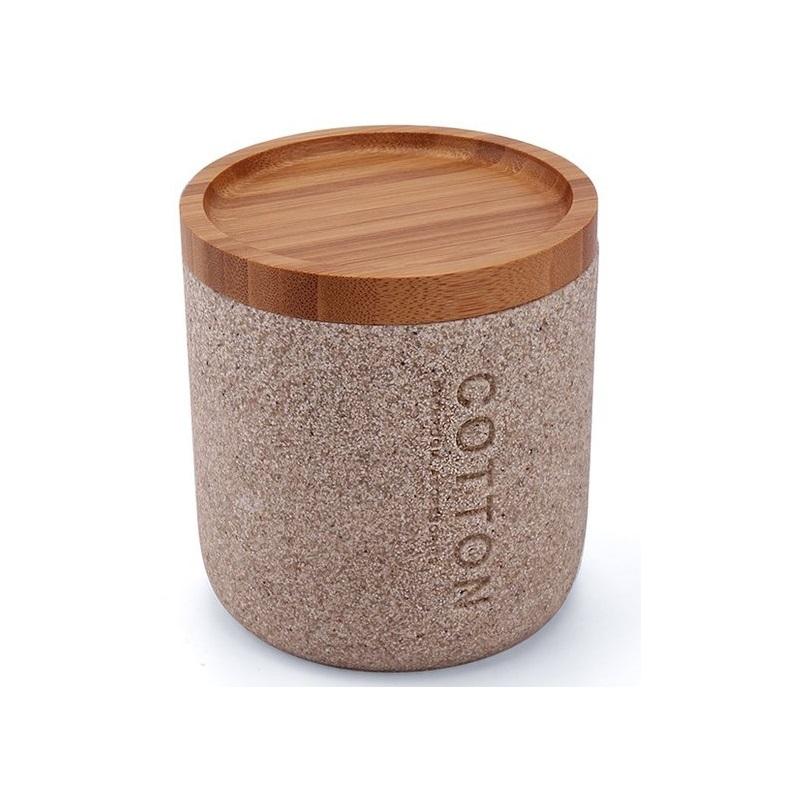 NIMCO KORA dóza na kozmetické tampóny pieskovo béžová KO2405186