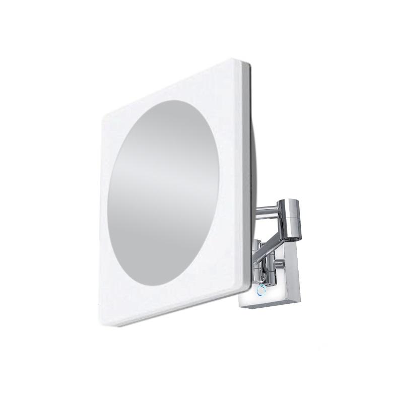 NIMCO kozmetické zrkadlo nástenné štvorcové 22x22cm LED-prepínanie farieb ZK20465P-26