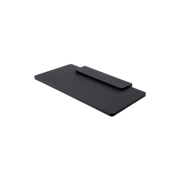 NIMCO NIKAU IXI polička čierny plexiglass 20 x 11 cm bez ohrádky, čierny držiak MACX320C90