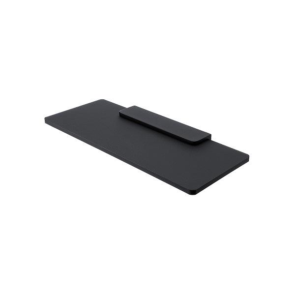 NIMCO NIKAU IXI polička čierny plexiglass 30 x 11 cm bez ohrádky, čierny držiak MACX330C90