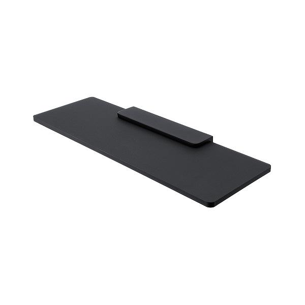 NIMCO NIKAU IXI polička čierny plexiglass 40 x 11 cm bez ohrádky, čierny držiak MACX340C90