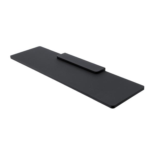 NIMCO NIKAU IXI polička čierny plexiglass 50 x 11 cm bez ohrádky, čierny držiak MACX350C90