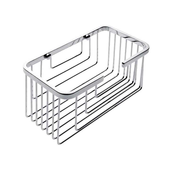 NIMCO Open drôtenný košík 10 x 20 cm chróm