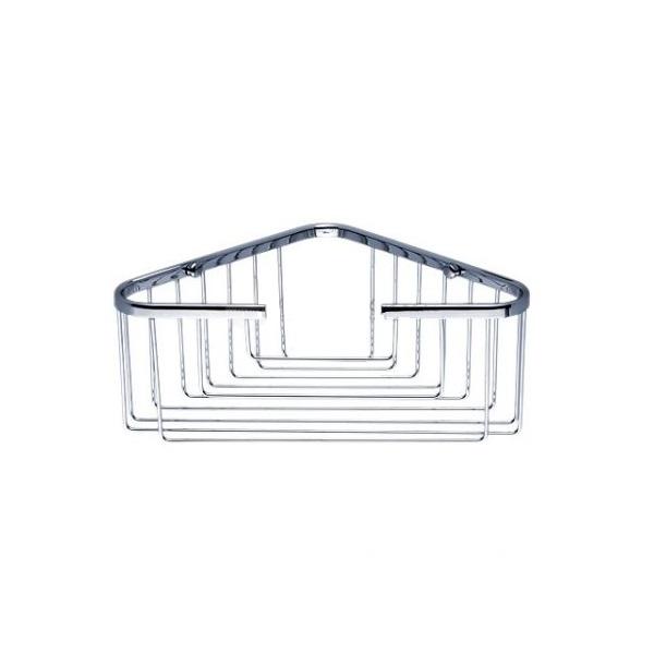 NIMCO Open drôtenný rohový košík 21 x 21 x 10 cm chróm