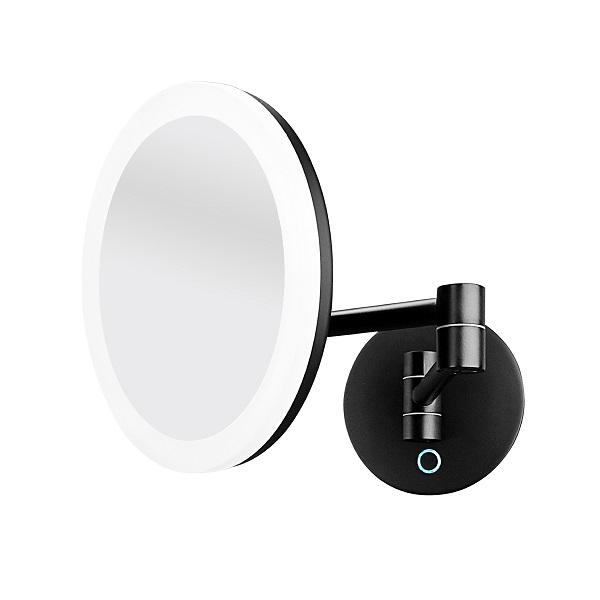 NIMCO zrkadlo kozmetické okrúhle s osvetlením NIMCO 20cm čierna ZK2026590