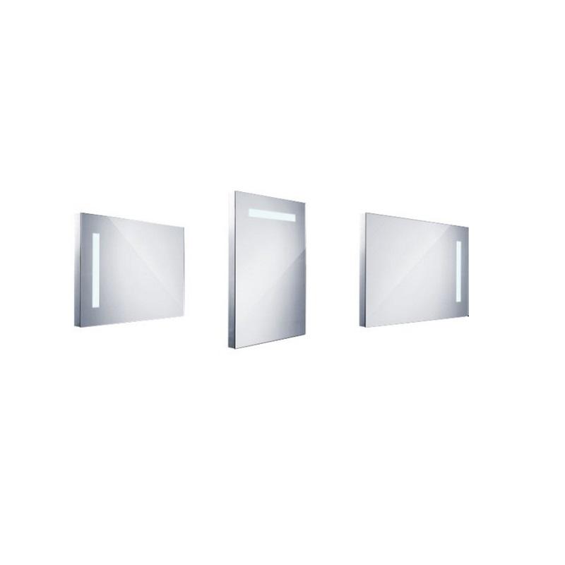NIMCO zrkadlo podsvietené LED 1000 50 x 70 cm hliníkový rám ZP1001