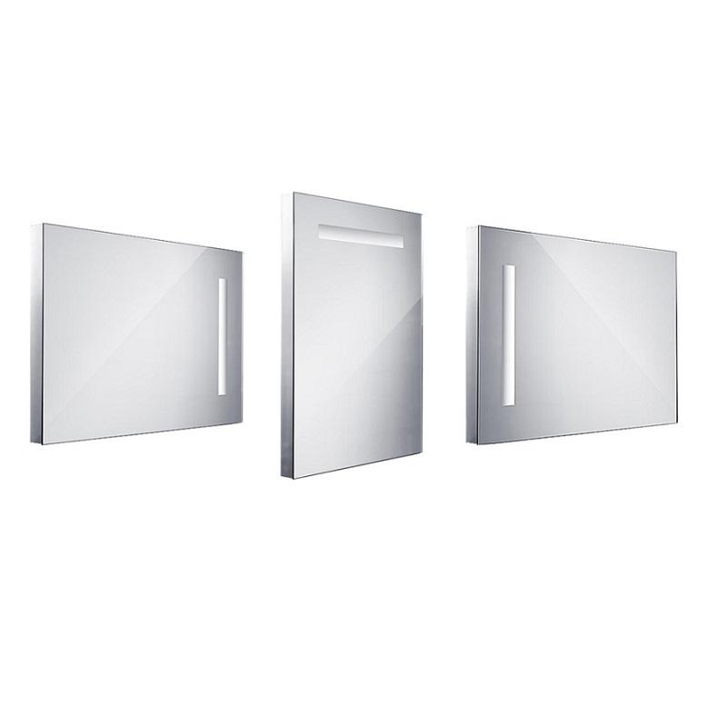 NIMCO zrkadlo podsvietené LED 1000 60 x 80 cm hliníkový rám ZP1002
