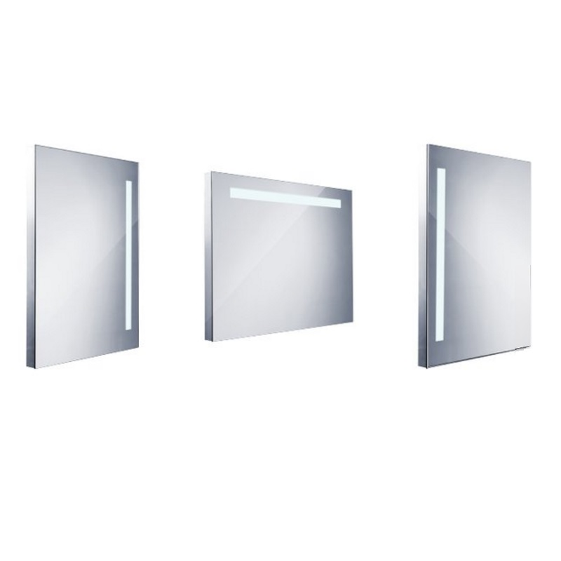 NIMCO zrkadlo podsvietené LED 1000 60 x 80 cm hliníkový rám ZP1003