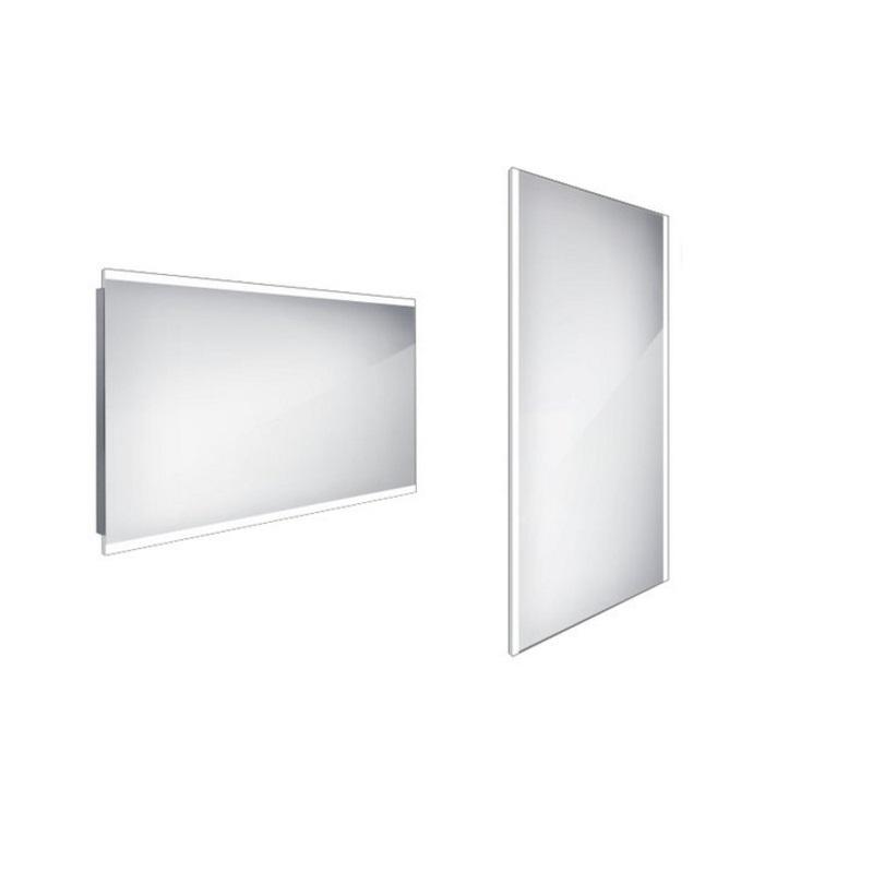 NIMCO zrkadlo podsvietené LED 12000 120 x 70 cm hliníkový rám ZP12006