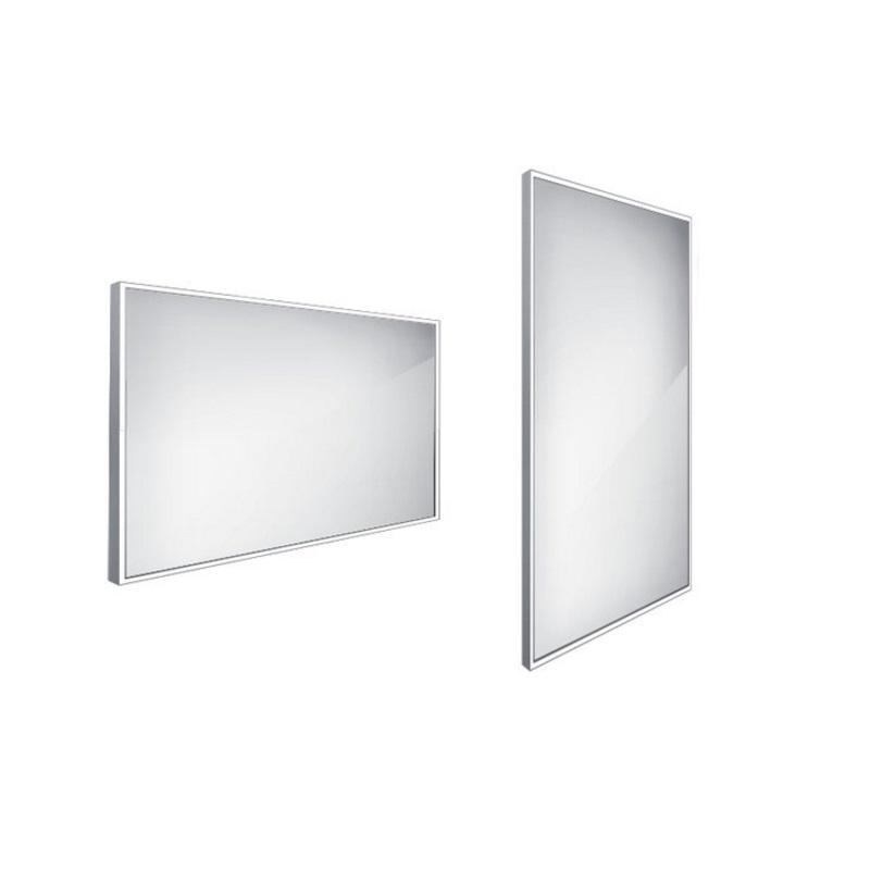 NIMCO zrkadlo podsvietené LED 13000 120 x 70 cm hliníkový rám ZP13006