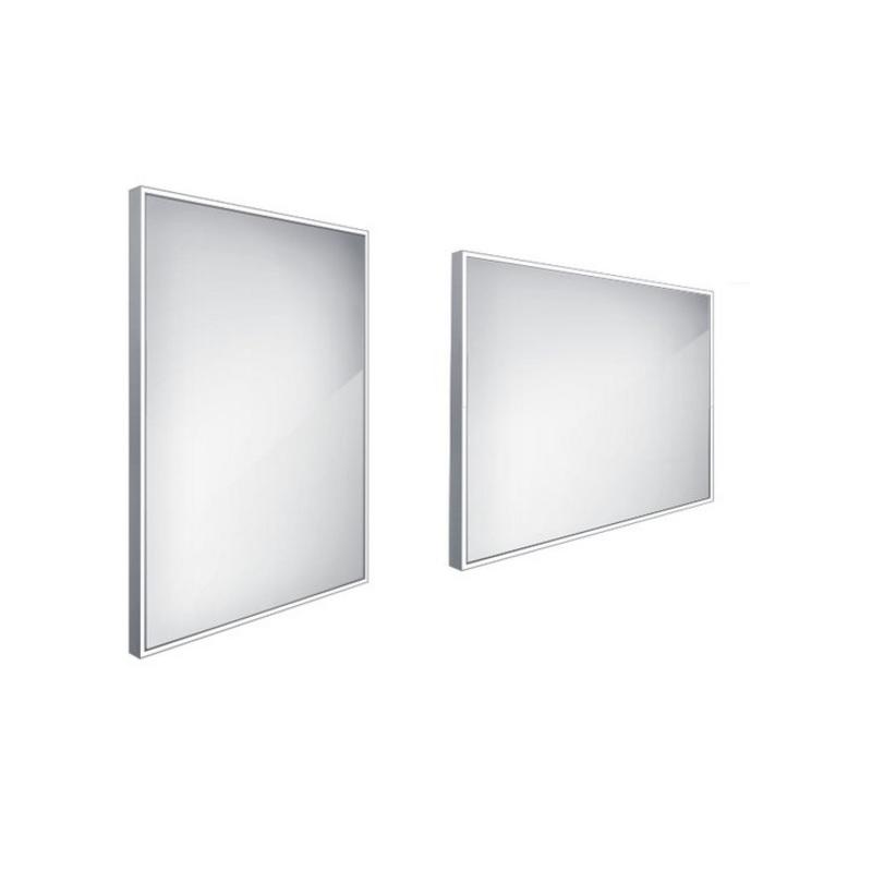 NIMCO zrkadlo podsvietené LED 13000 60 x 80 cm hliníkový rám ZP13002