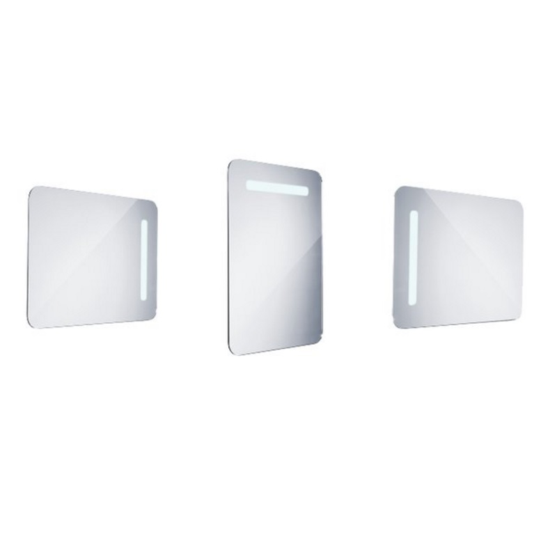 NIMCO zrkadlo podsvietené LED 2000 50 x 70 cm hliníkový rám ZP2001