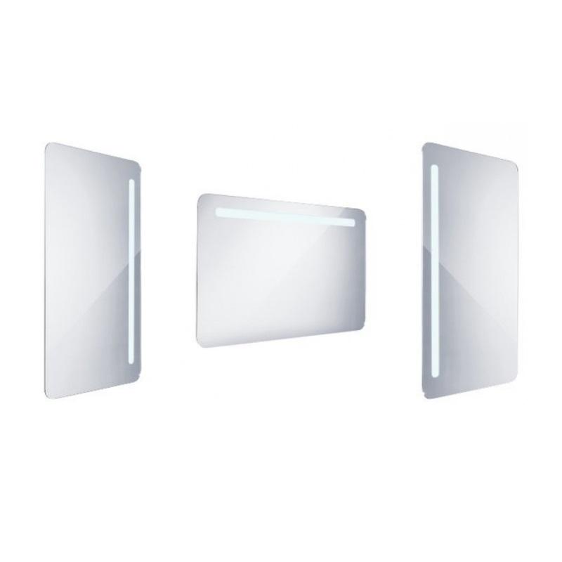 NIMCO zrkadlo podsvietené LED 2000 60 x 100 cm hliníkový rám ZP2004
